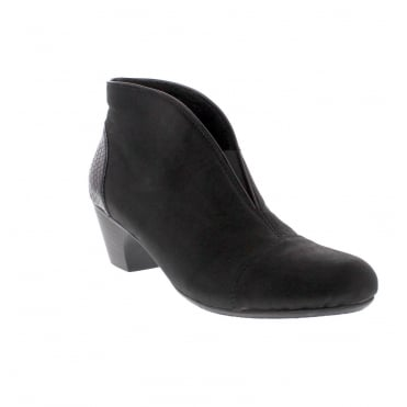 Rieker 50553-01 Womens Black Ankle Boot