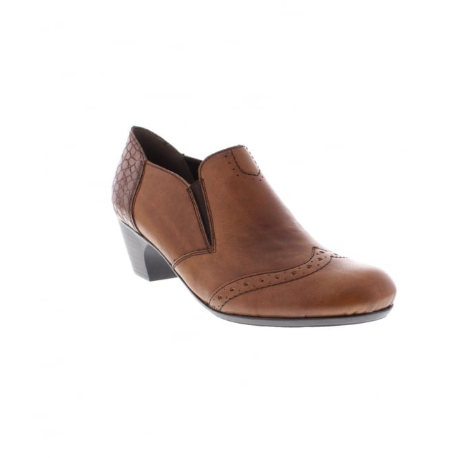 Rieker 50563-24 Ladies Brown Ankle Shoe