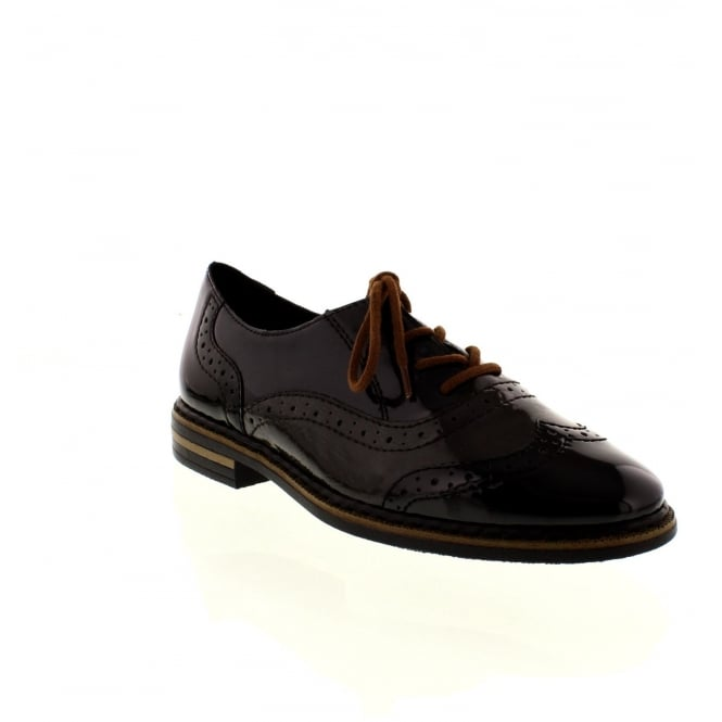Rieker 50603-00 Ladies Black Lace Up shoes