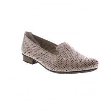 Rieker 51977-40 Ladies' Beige slip on shoes