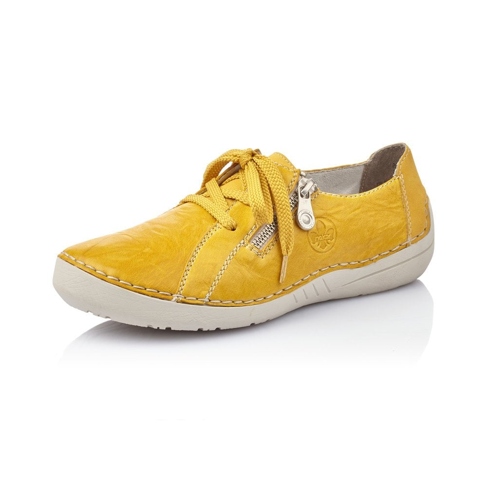 Rieker 52511-68 Ladies Yellow Lace Up