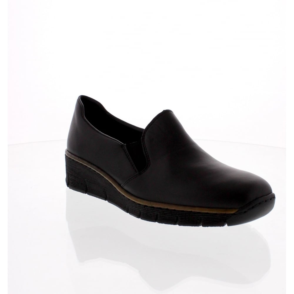 696f758e15 Rieker 53766-00 Ladies Black Slip on shoes - Rieker Ladies from Rieker UK