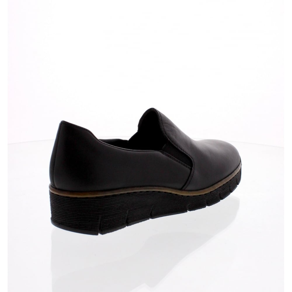 a98a286bf9c Rieker 53766-00 Ladies Black Slip on shoes - Rieker Ladies from ...