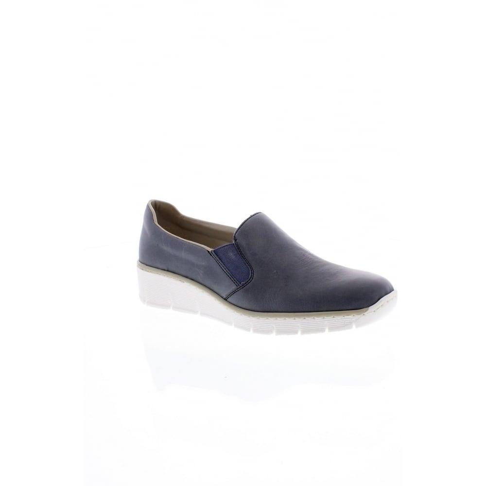daf8729f45de Rieker 53766-12 Slip on blue Ladies  shoes - Rieker Ladies from Rieker UK