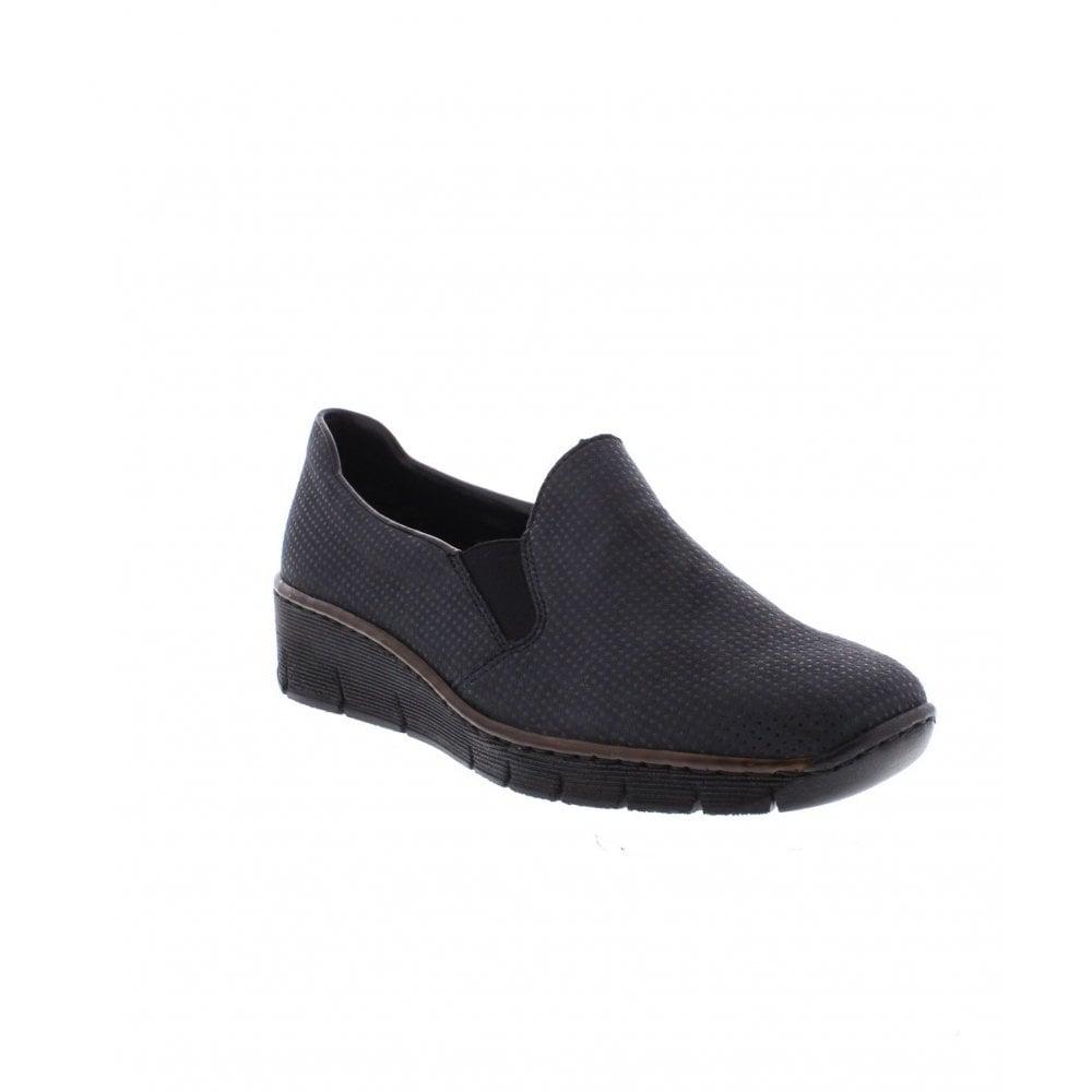 f23ab4b80a3 Rieker 53766-17 Ladies blue shoes - Rieker Ladies from Rieker UK