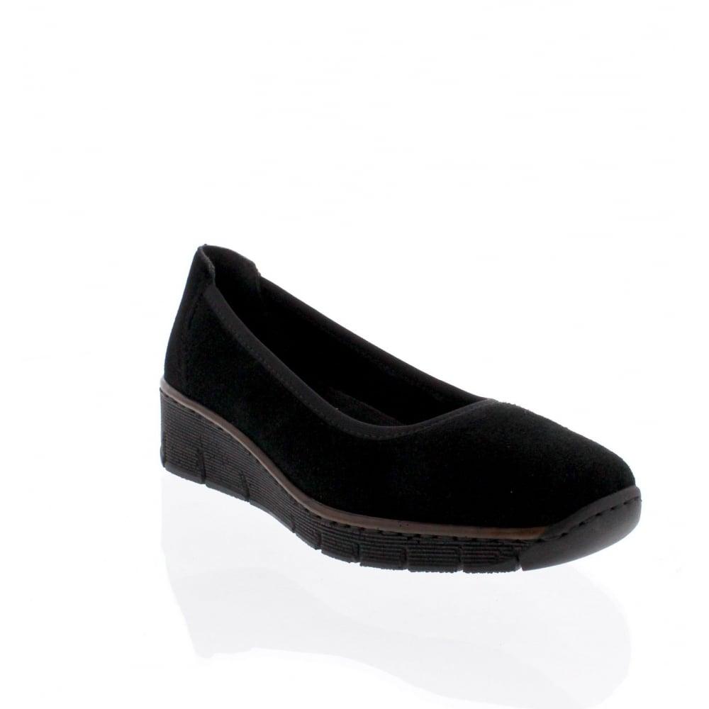 Rieker 53770-00 Womens black slip on