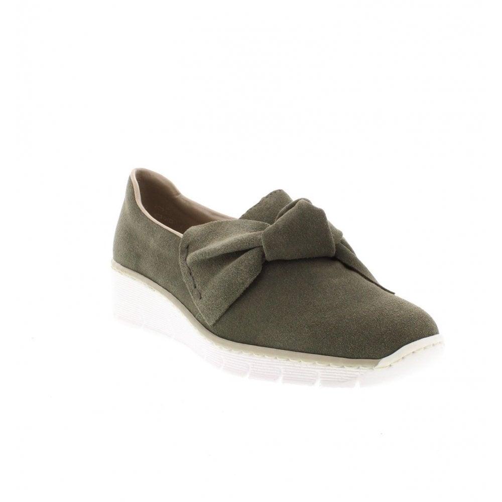 Green Slip On Shoes - Rieker Ladies