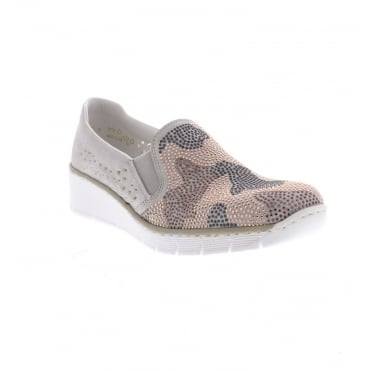 537T1-40 Ladies' Slip on shoes in Light Grey