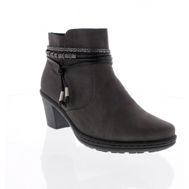Rieker 54953-45 Womens grey ankle boot