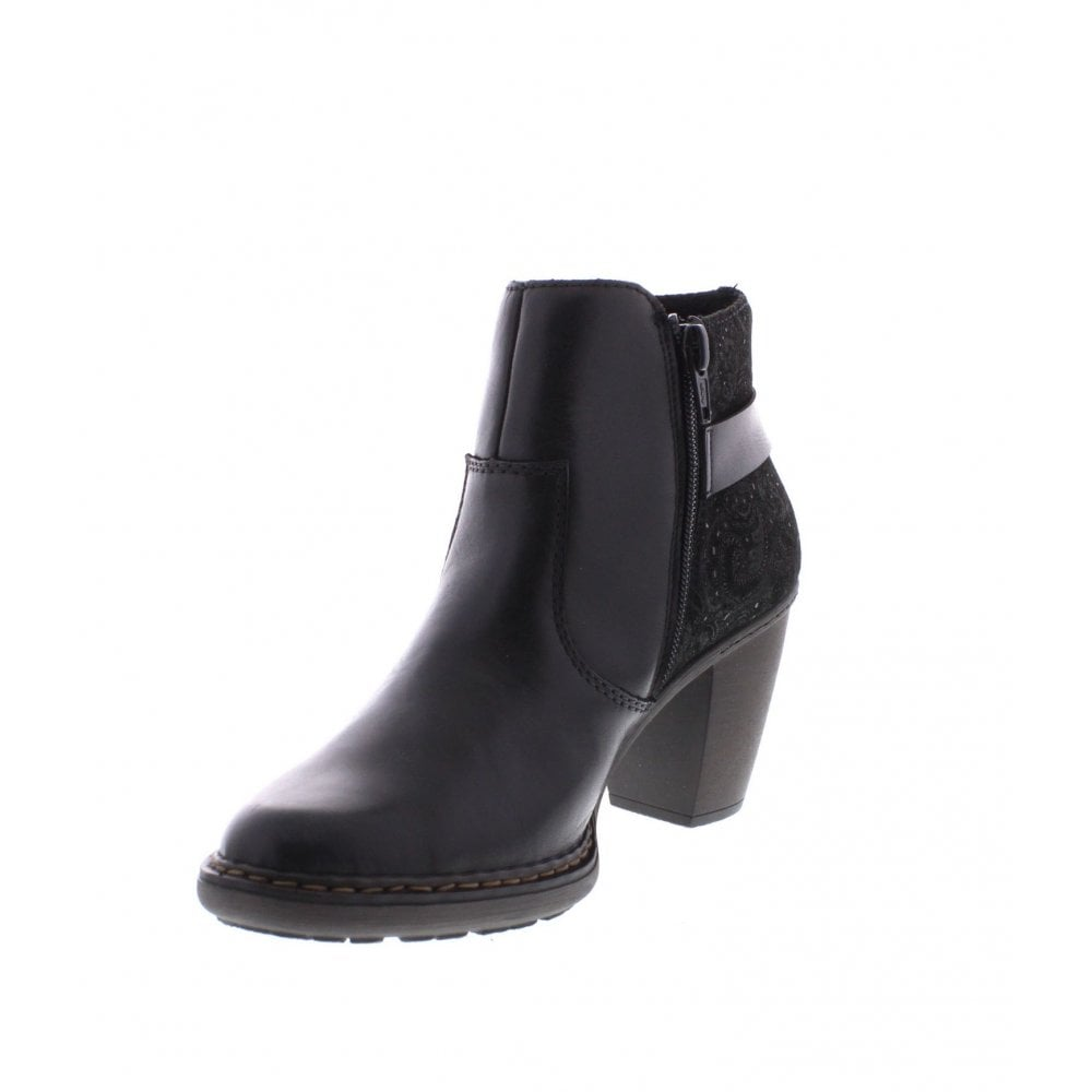 00 Ladies black boots 55292 ankle TKJl1cF