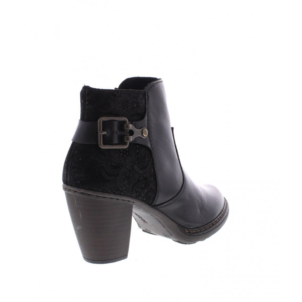 c1b848281f6 Rieker 55292-00 Ladies black ankle boots - Rieker Ladies from Rieker UK