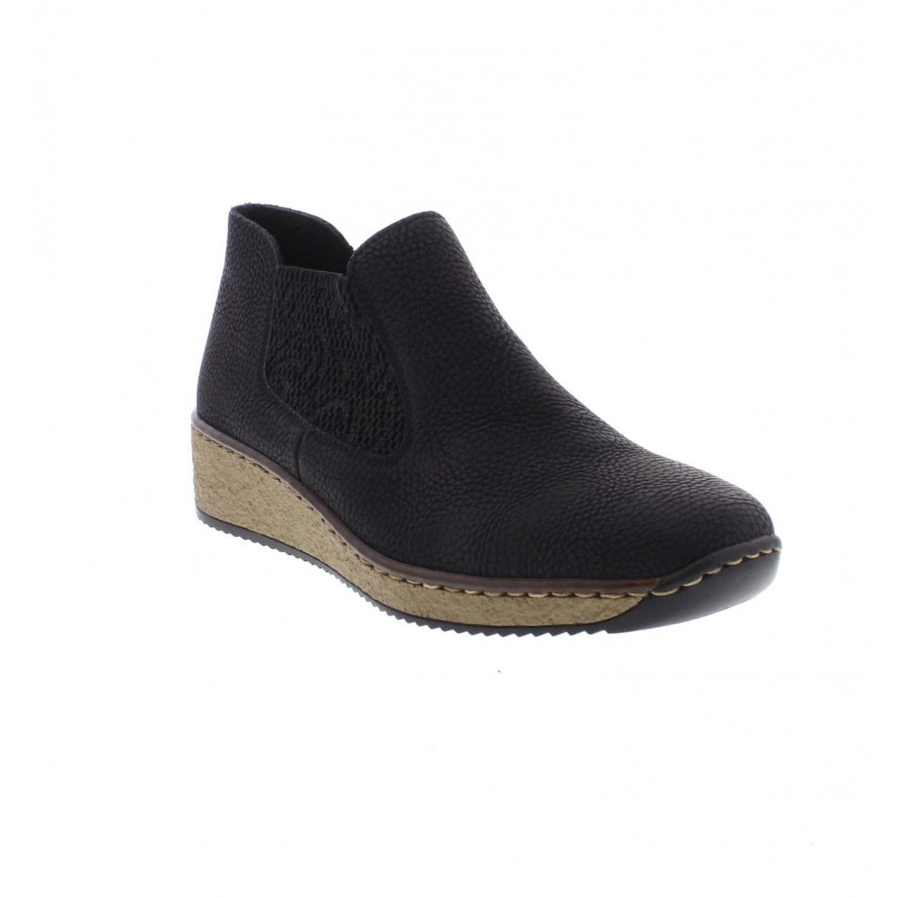 Rieker 56490-00 black Ladies' ankle