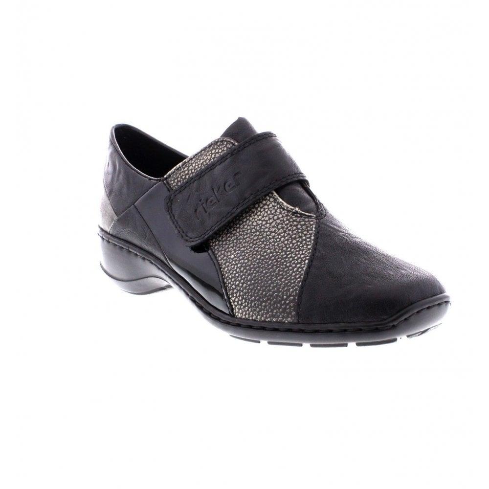34a5f5af0b9 Rieker 58354-00 Ladies Black combination shoes - Rieker Ladies from Rieker  UK