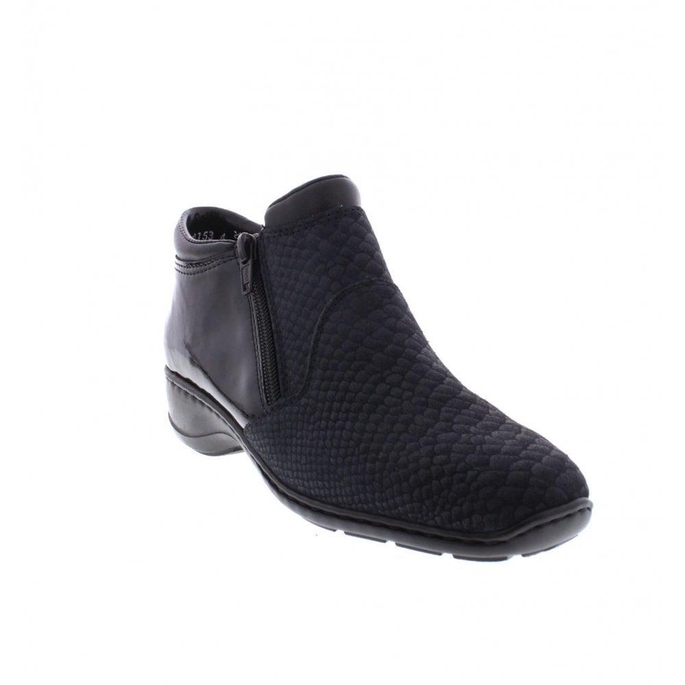 36eb45881338 Rieker 58393-14 Ladies Blue combination ankle boots - Rieker Ladies from  Rieker UK
