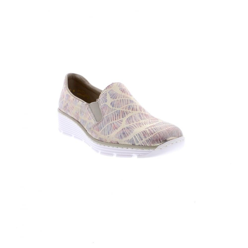 Rieker 58766-92 Casual Ladies Multi-Colour Shoes - Rieker Ladies ... 40cbbe03ac