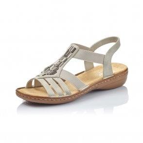 66581 90 Ladies' Sandals in Metallic
