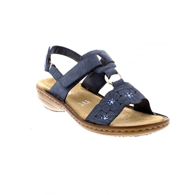 Rieker 60843-14 Ladies sling back two part sandals