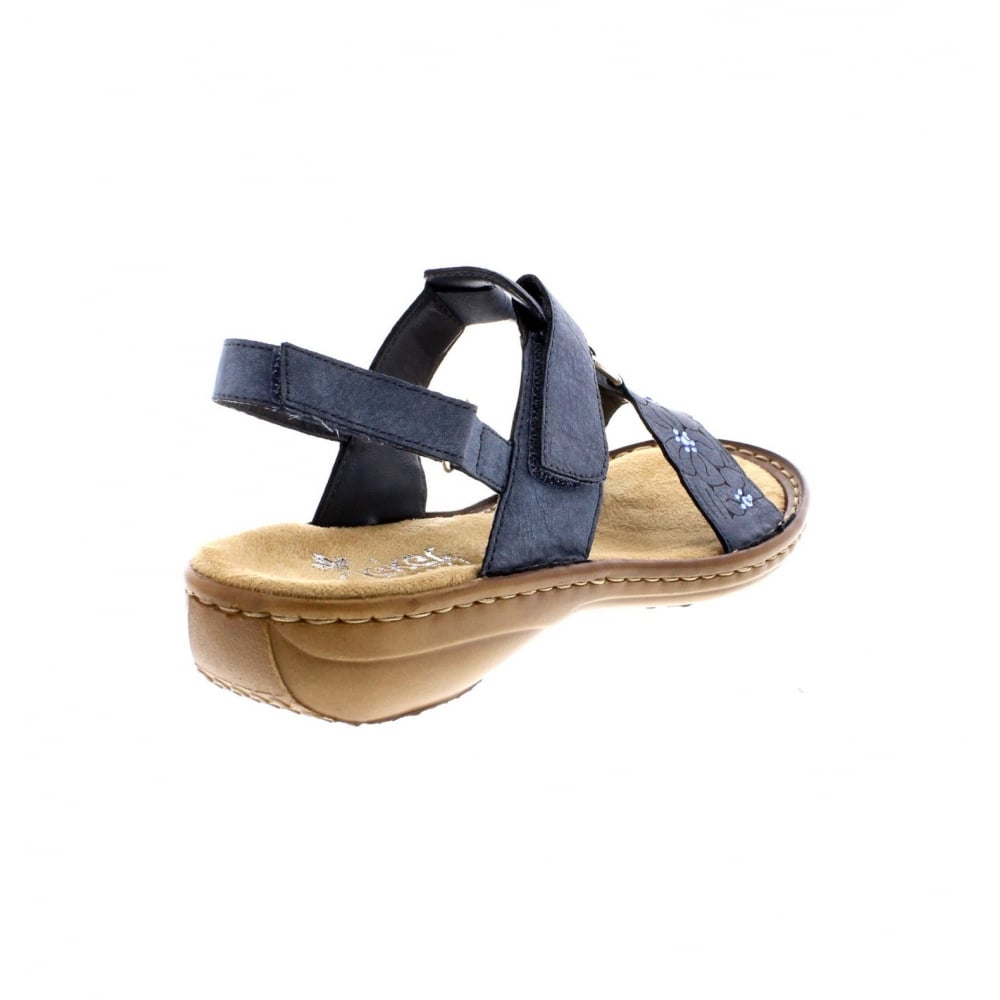 Rieker 60843-14 Ladies sling back two part sandals - Rieker Ladies ... 2ec2a1834b