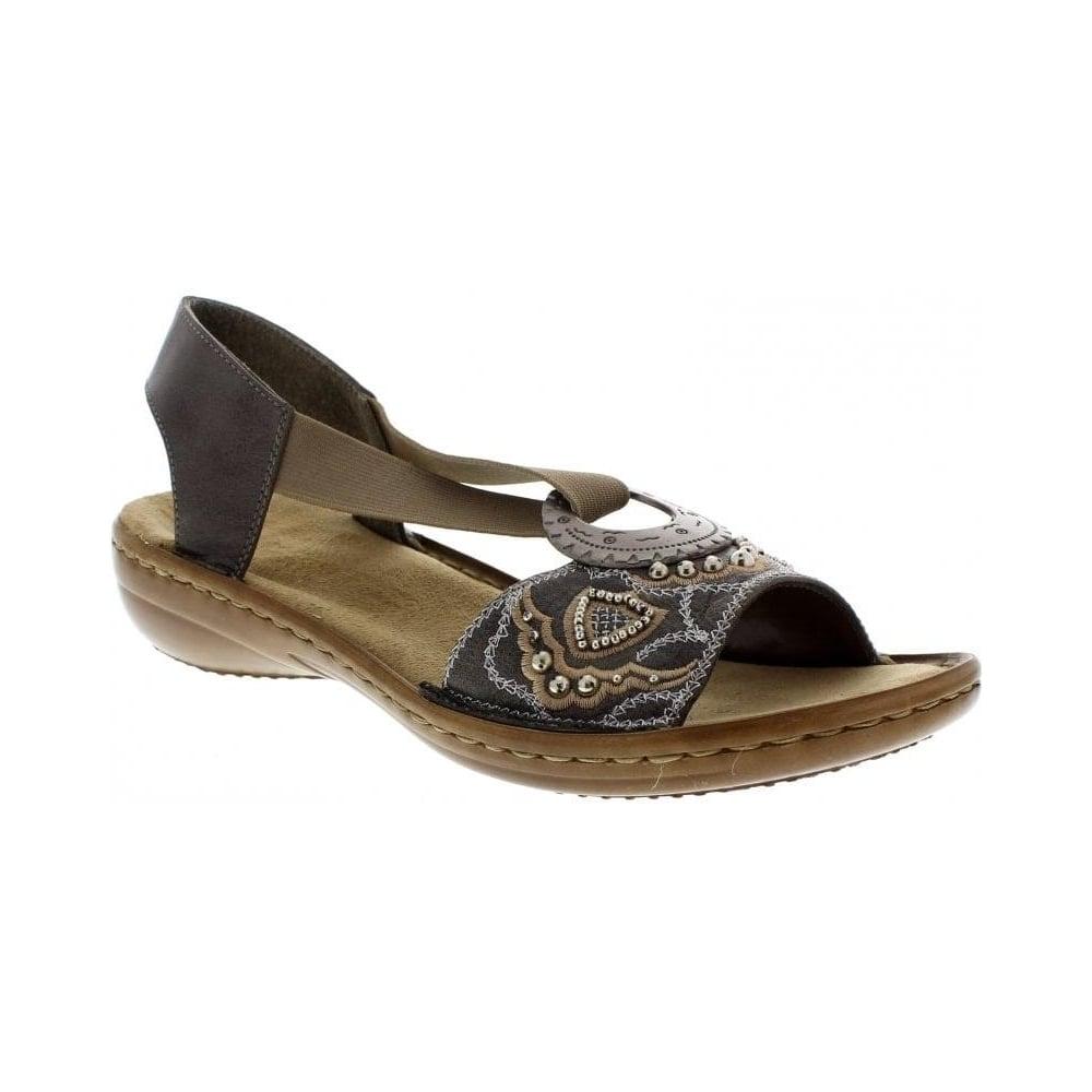 608B9 45 grey Ladies' sandals