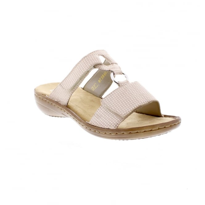 Rieker 608P9-62 Ladies pale pink sandals