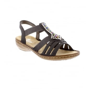 Rieker 608S1-45 Ladies grey sling back sandals