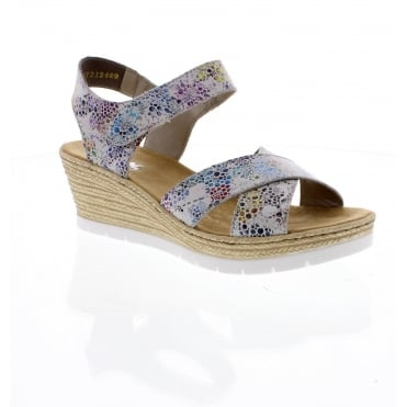 Rieker 61943-90 Ladies multi coloured sandals