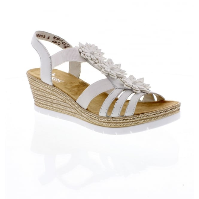 Rieker 61949-80 Ladies White Sandals