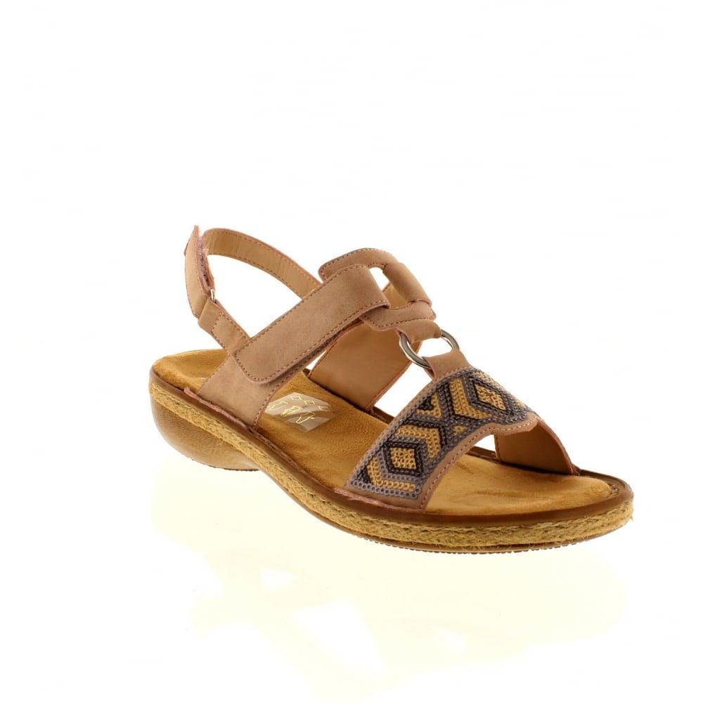 6b671b6440 Rieker 62364-31 Ladies Pink Combination hook and loop sandals - Rieker  Ladies from Rieker UK