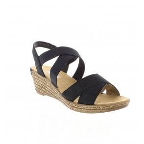 0d647486d1f Rieker 62436-14 Blue Ladies Navy Sandals - Rieker Ladies from Rieker UK
