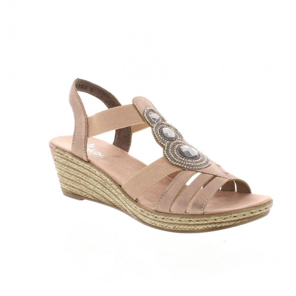 461d244e585 Rieker 62459-31 Ladies Rose Gold Sandals - Rieker Ladies from Rieker UK