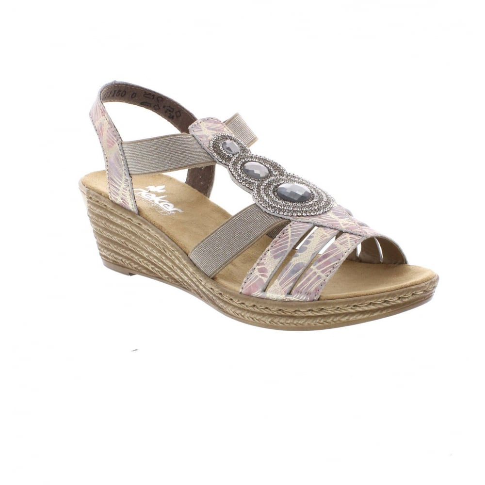 62459 92 Ladies Multi Colour Sandals L0rtA