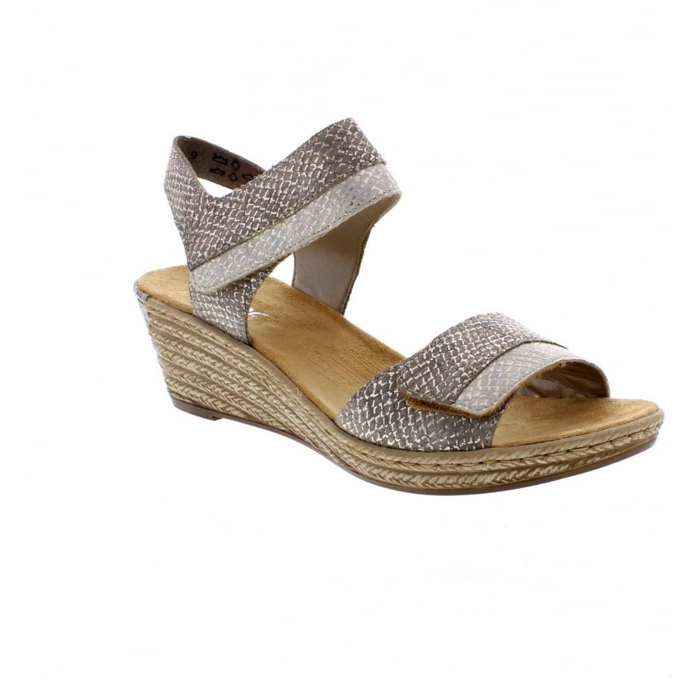 05f3cc0454 Rieker 62470-64 Ladies Metallic Sandals - Rieker Ladies from Rieker UK