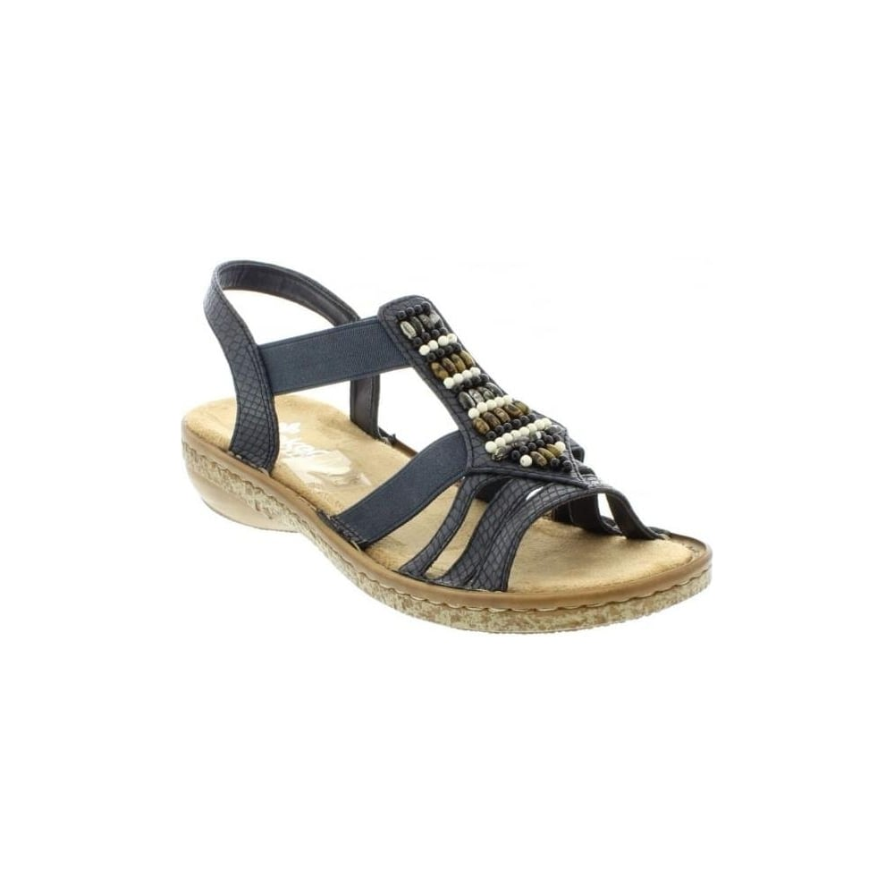 Rieker 62851 14 Ladies Blue Sling Back Sandals