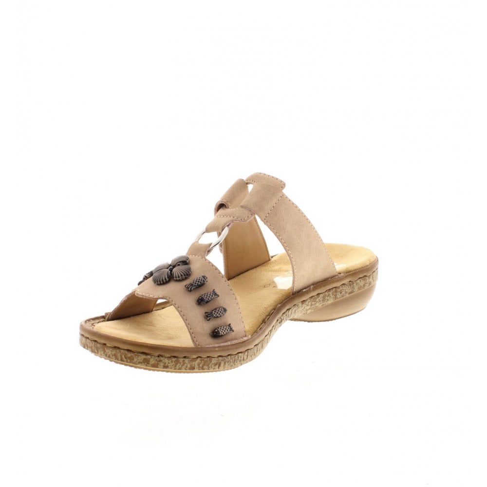 1300f5a97 Rieker 62891-31 Ladies Pale Pink Sandals - Rieker Ladies from Rieker UK