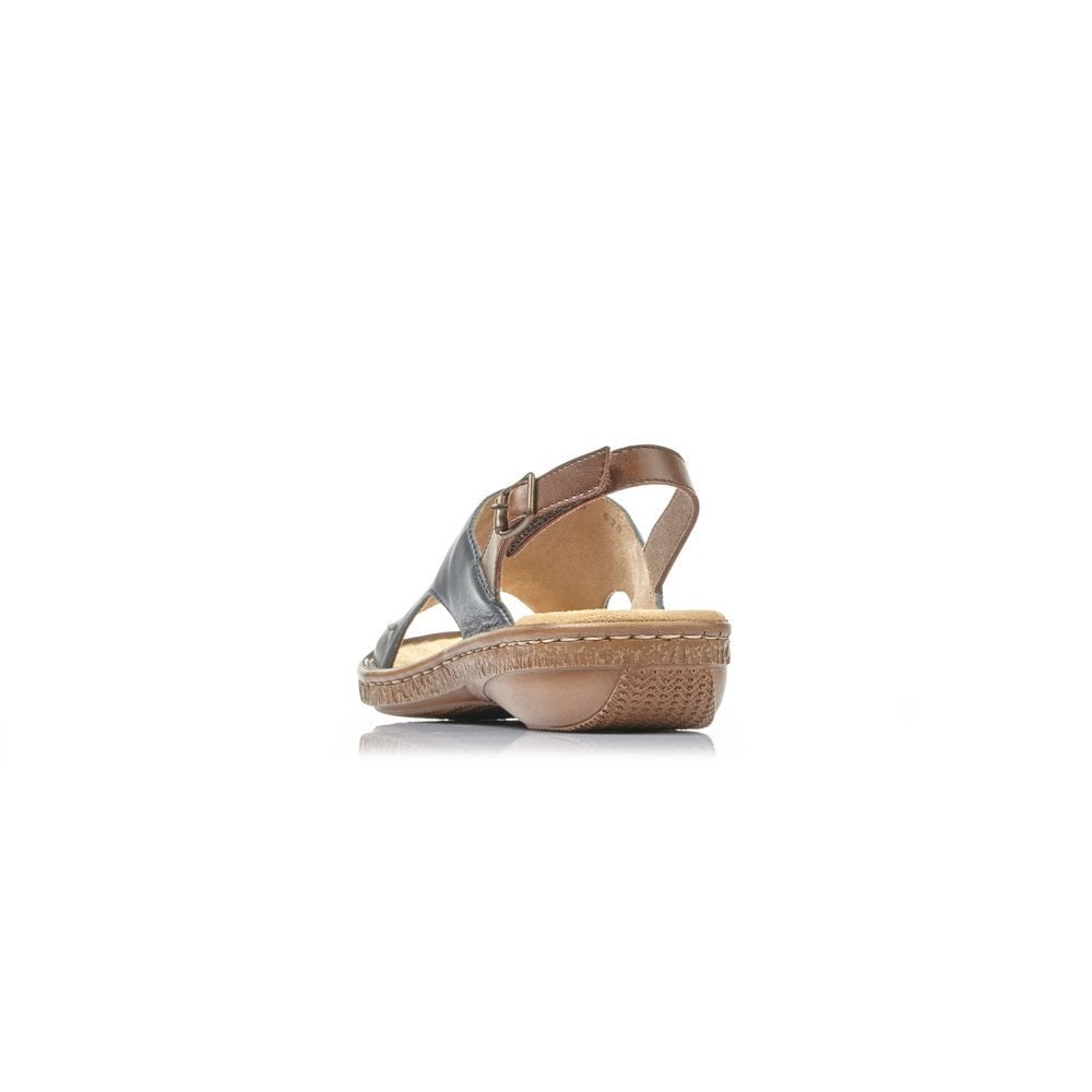 628C514 Ladies Navy Blue Combination Fastener Sandals