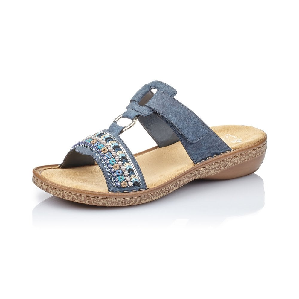 Rieker 628M6-14 Ladies Blue Slip On
