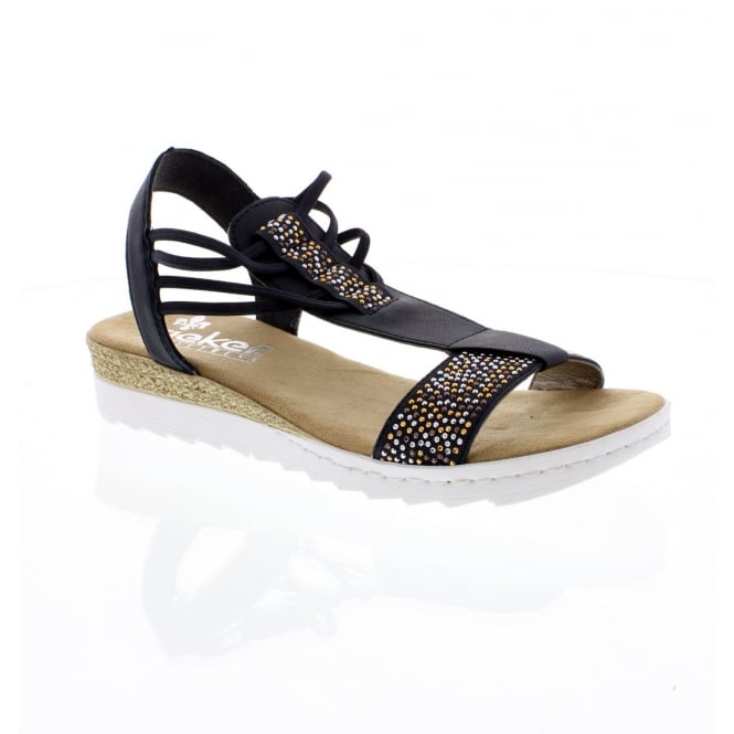 Rieker 63062-14 Ladies Dark Blue Sandals