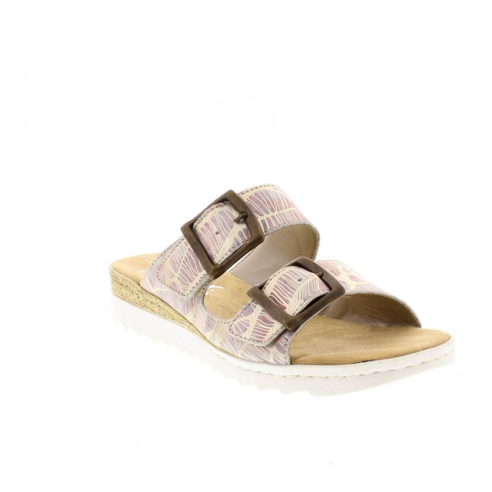 7b2273184ca0 Rieker 63094-90 Ladies Metallic Slip On Sandals - Rieker Ladies from ...
