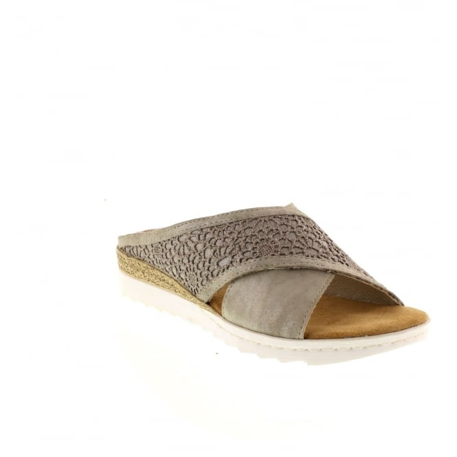 Rieker 63096-40 Ladies Grey Slip on sandals