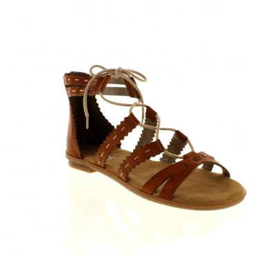 Rieker 64239-24 Ladies Brown Lace sandals