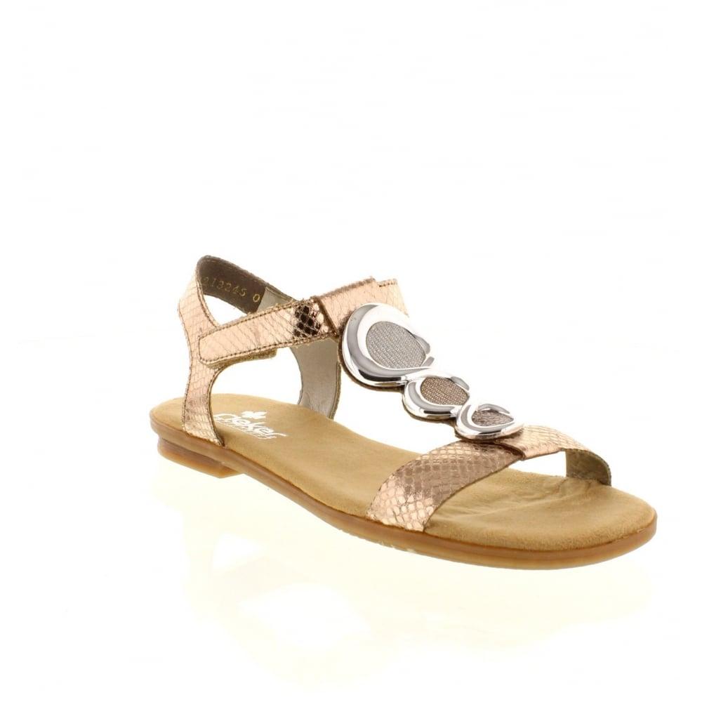 07a130d9d4 Rieker 64265-90 hook and loop Sling Back metallic Ladies  sandals - Rieker  Ladies from Rieker UK