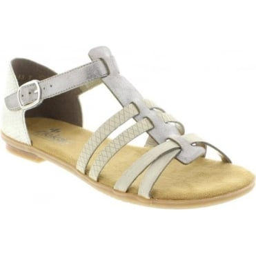 Rieker 64288-40 Ladies Grey Buckle sandals