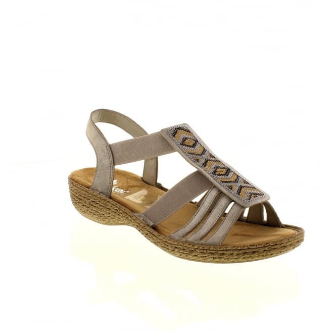 Rieker 65809-40 Ladies Grey Slip on sandals