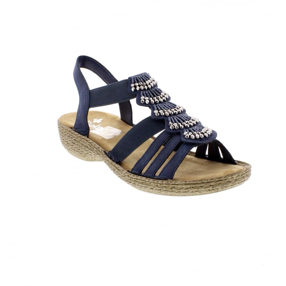Ladies Wedge Navy Shoes
