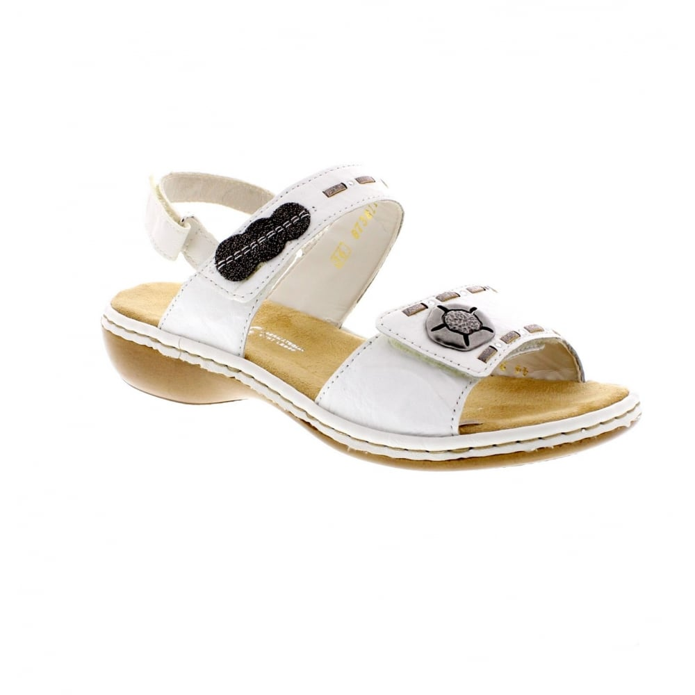 83d3a6407 Rieker 65972-82 Ladies White Sandals - Rieker Ladies from Rieker UK