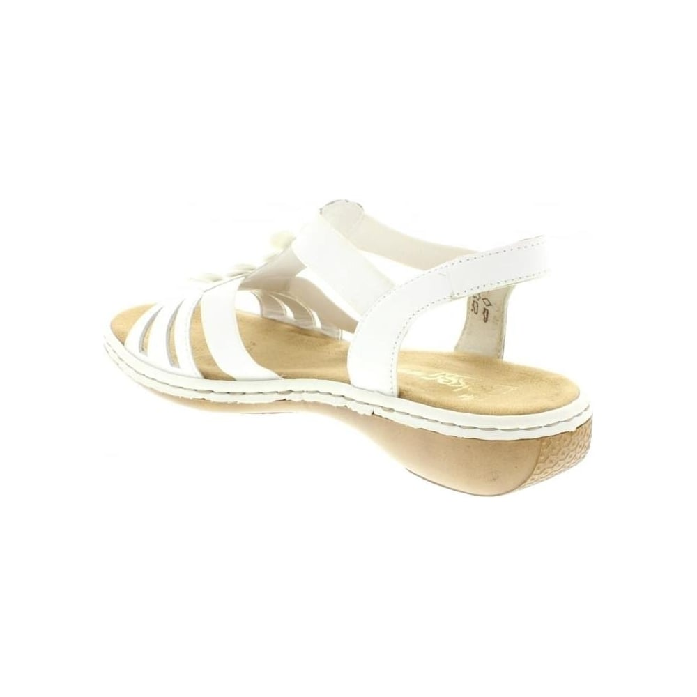 3d1a64a5e028a3 Rieker 65999-80 Ladies White sandals - Rieker Ladies from Rieker UK