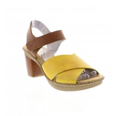 80ed52f51 Rieker 665H1-68 Ladies Yellow Combination Sandals - Rieker Ladies from  Rieker UK