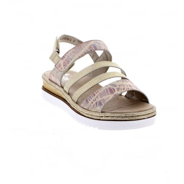 Rieker 679L3-90 Ladies' multi coloured sandals