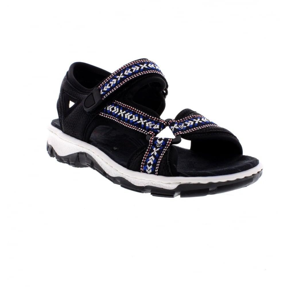 Rieker 68857 00 Ladies Black Sandals Rieker Ladies From