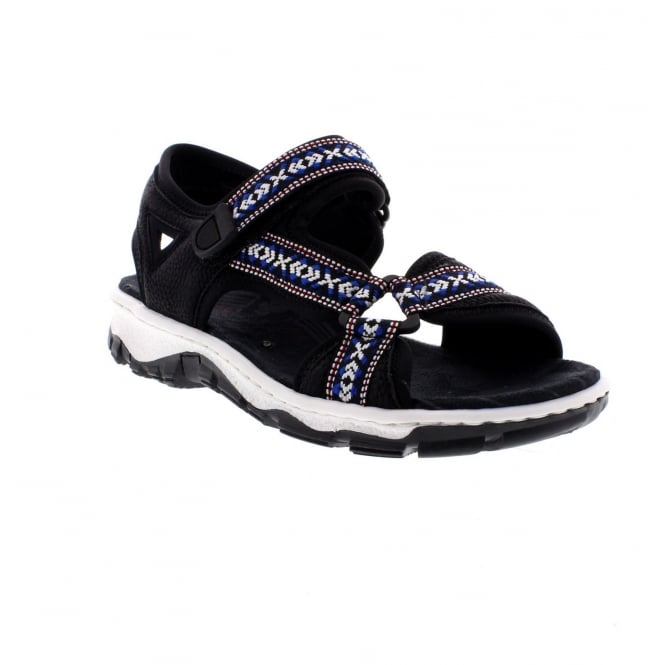 Rieker 68857-00 Ladies' black sandals